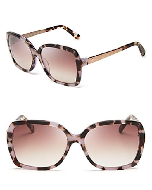 Kate Spade | Multicolor Darilynn Oversized Sunglasses, 58mm | Lyst