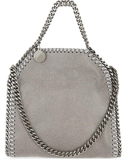 Stella McCartney   Gray Tiny Falabella Shoulder Bag   Lyst
