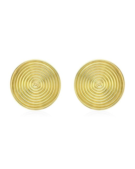 Theo Fennell | Metallic Gold Whip Disc Earrings | Lyst