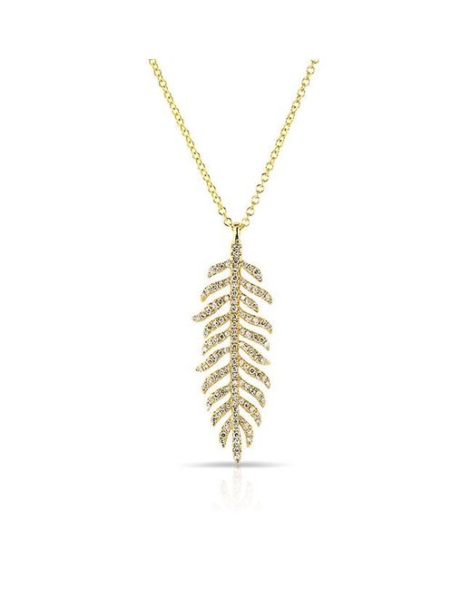 Anne Sisteron | Metallic 14kt Yellow Gold Diamond Palm Necklace | Lyst