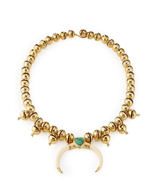 Aurelie Bidermann | Metallic 18-Karat Gold-Plated Necklace | Lyst
