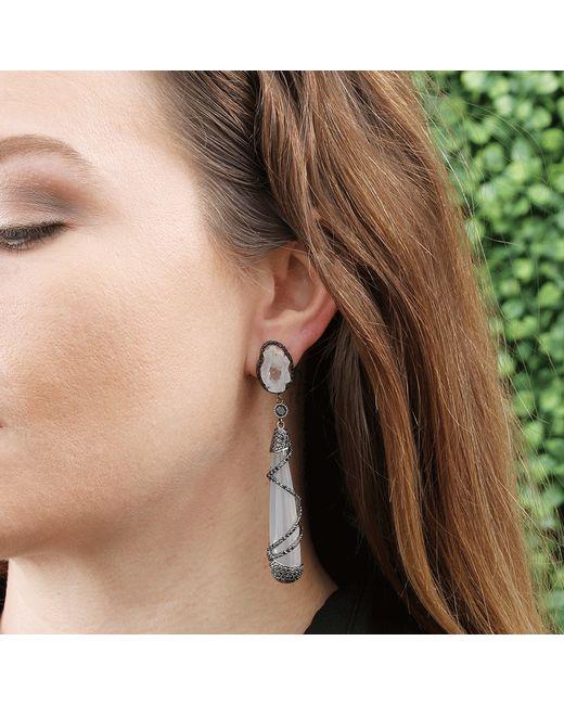 Colette   White Quartz Drop Earrings   Lyst