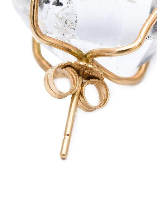 Melissa Joy Manning | Metallic Caged Herkimer Diamond Earrings | Lyst