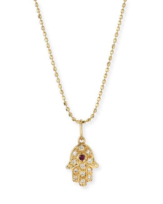 Sydney Evan | Metallic 14K Gold Diamond Hamsa Pendant Necklace | Lyst