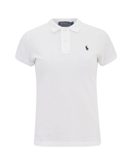 Polo Ralph Lauren | White Women's Skinny Fit Polo Shirt for Men | Lyst