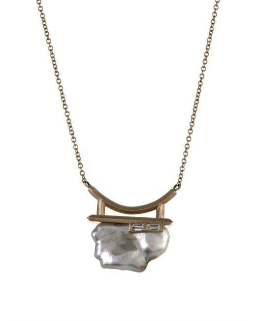 Monique Péan | Metallic Diamond, Pearl & White-Gold Necklace | Lyst