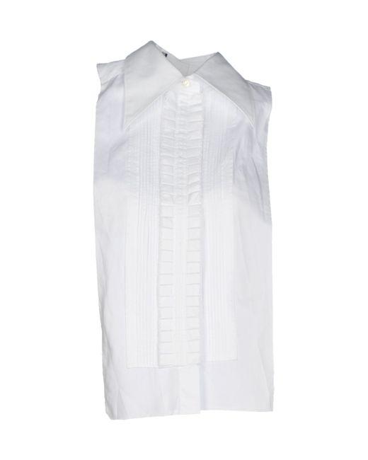 Dolce & Gabbana | White Cutout Cotton Shirt | Lyst