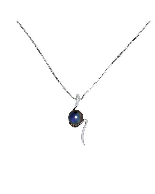 Azendi | Metallic S-shaped Peacock Pearl Pendant | Lyst
