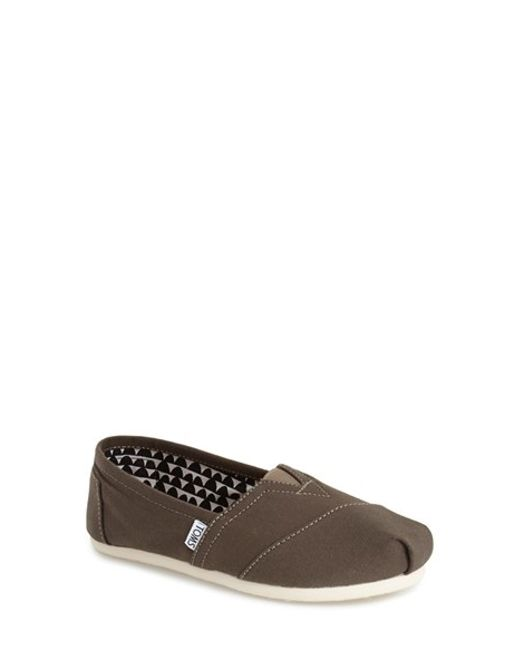 TOMS | Green 'classic' Slip-on | Lyst