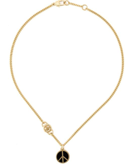 Marc By Marc Jacobs   Metallic 'Peace Out' Pendant Necklace   Lyst
