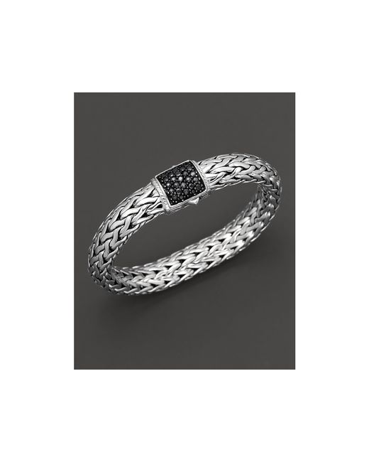John Hardy | Metallic Classic Chain Sterling Silver Large Bracelet With Black Sapphire Clasp | Lyst