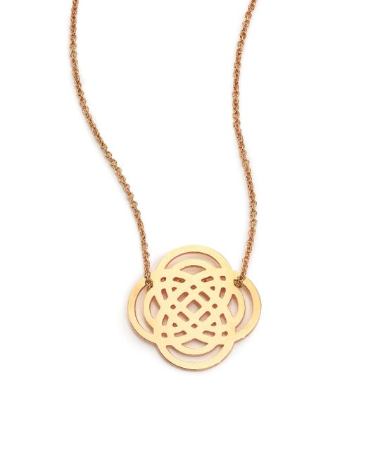 Ginette NY | Metallic 18k Rose Gold Baby Purity Pendant Necklace | Lyst