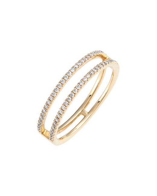 Bony Levy | Metallic 'prism' Two-row Diamond Ring (nordstrom Exclusive) | Lyst