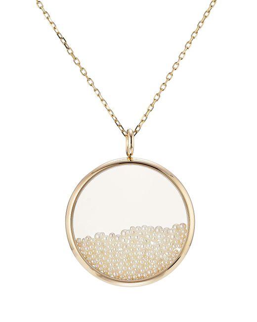 Aurelie Bidermann | Metallic 18kt Gold Chivor Necklace With Pearls | Lyst