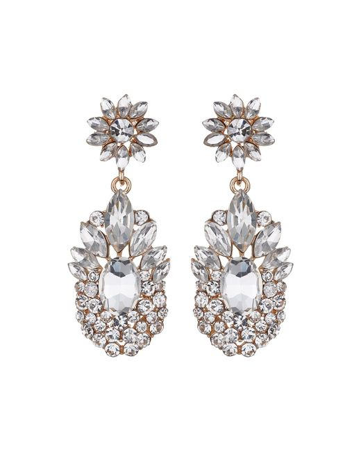 Mikey | White Flower Drop Fillagary Flower Earring | Lyst