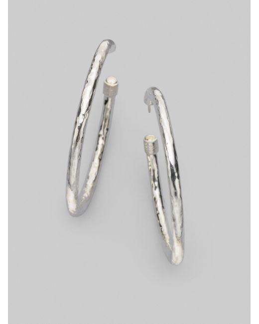 Ippolita | Metallic Glamazon Sterling Silver #4 Hoop Earrings/2 | Lyst