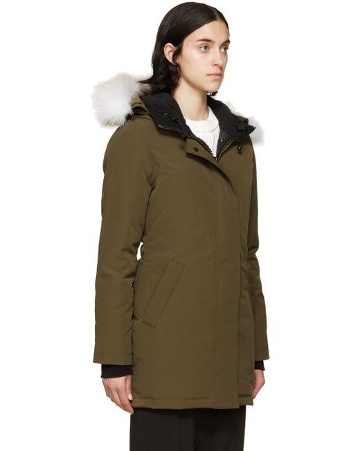 Canada Goose | Black Victoria Fur-hood Parka Jacket | Lyst