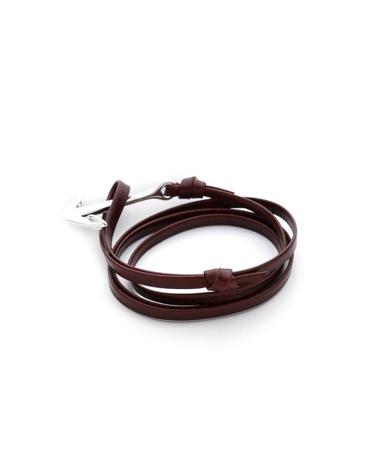Miansai | Metallic Anchor Leather Wrap Bracelet for Men | Lyst