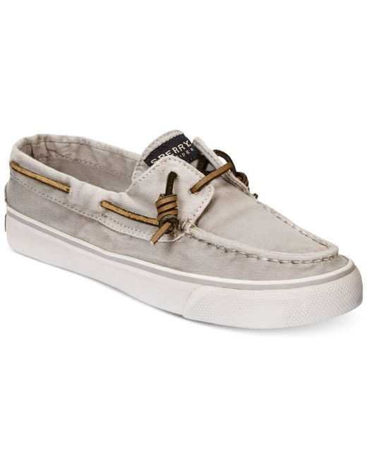 sperry top sider s bahama canvas boat shoes in gray