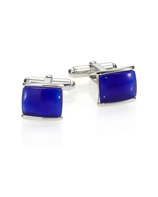 David Donahue   Blue Tiger'S Eye & Sterling Silver Cuff Links   Lyst
