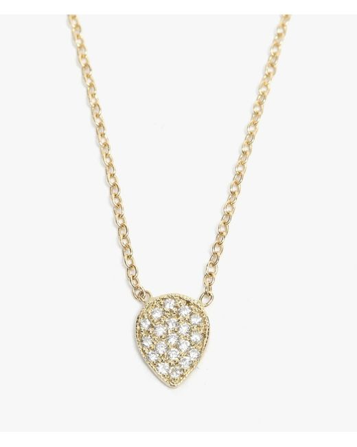 Ariel Gordon | Metallic Pave Diamond Teardrop Necklace | Lyst