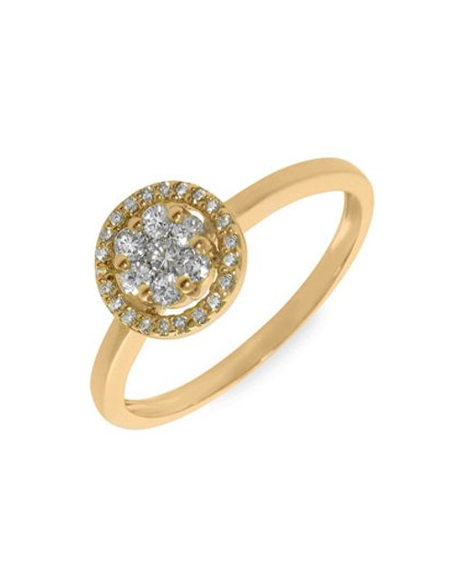 Bony Levy | Metallic Flower Diamond Stackable Ring (nordstrom Exclusive) | Lyst