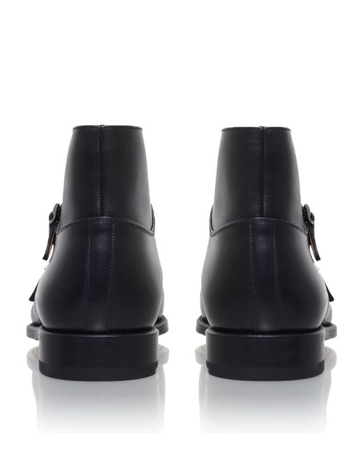 Saks Fifth Avenue Vidal Double Buckle Boot In Black For