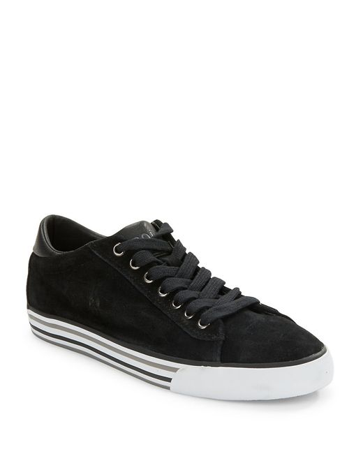Polo Ralph Lauren | Black Harvey Suede Lace-up Sneakers for Men | Lyst
