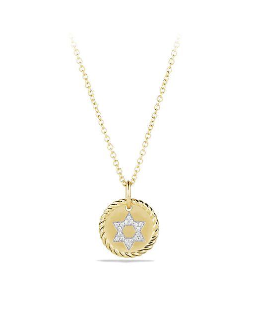 David Yurman | Metallic Star Of David Necklace With Diamonds In 18k Gold | Lyst