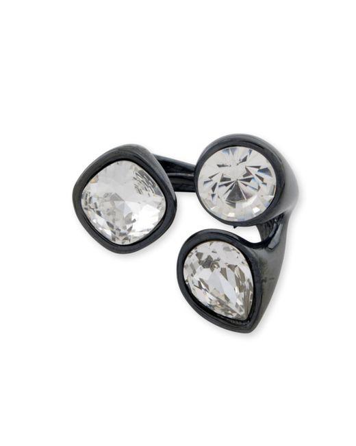 Kenneth Jay Lane | Metallic Crystal Cluster Ring | Lyst