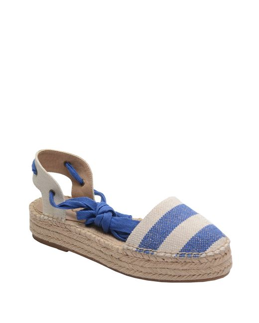 Splendid | Blue Ankle-wrap Espadrille Platform Flats | Lyst
