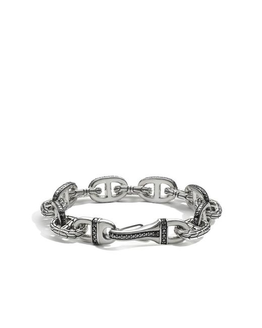 John Hardy | Metallic Classic Chain Link Bracelet With Black Sapphire for Men | Lyst