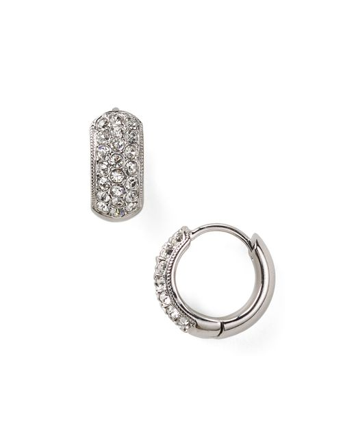 Nadri | Metallic Tiny Pave Huggie Earrings | Lyst