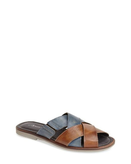 Bacco Bucci | Blue 'horizon' Slide Sandal for Men | Lyst