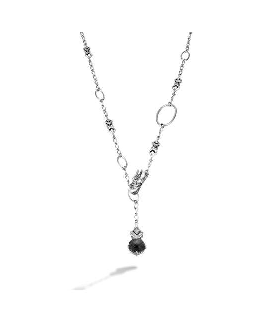 John Hardy | Black Drop Pendant On Sautoir Necklace | Lyst