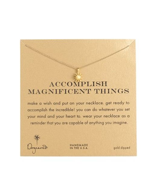 Dogeared | Metallic 'accomplish Magnificent Things' Pendant Necklace | Lyst