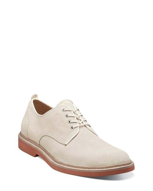 florsheim bucktown buck shoe in white for white
