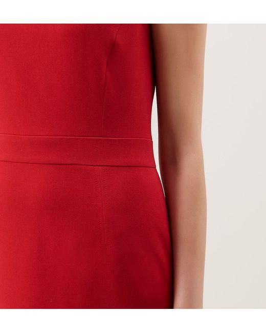 Hobbs | Red Lyne Dress | Lyst
