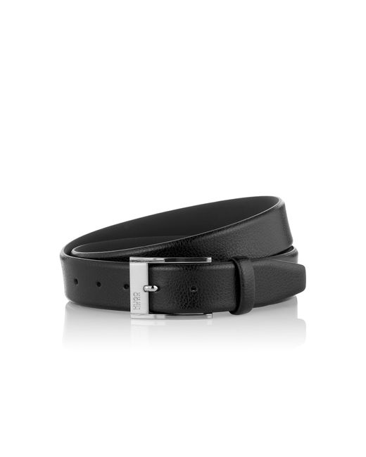 HUGO | Black Belt In Textured Leather: 'c-ellot' for Men | Lyst