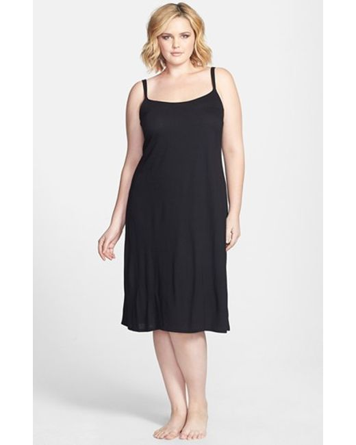 Natori | Black 'shangri La' Nightgown | Lyst