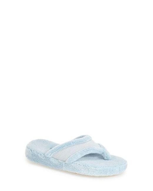Acorn | Blue 'waffle' Spa Slipper | Lyst