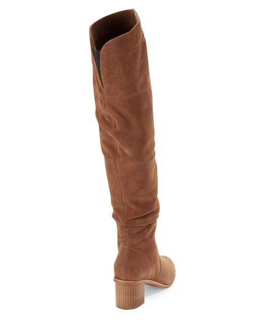 French Connection | Brown Clementina Above-the-knee Boots | Lyst