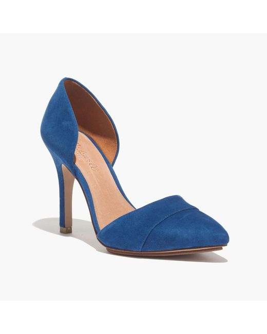 Madewell   Blue The D'Orsay Heel   Lyst
