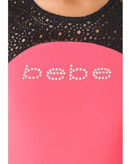 Bebe | Black Petite Logo Maxi Dress | Lyst