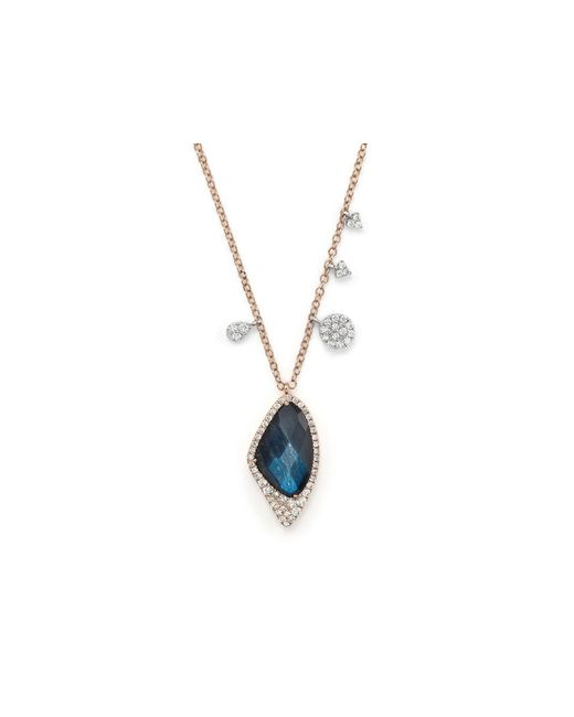 Meira T | 14k Gold And Blue Labradorite Necklace, 16"