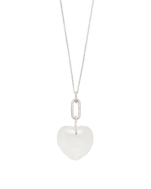 Kate Spade | White Super Stone Heart Long Pendant | Lyst