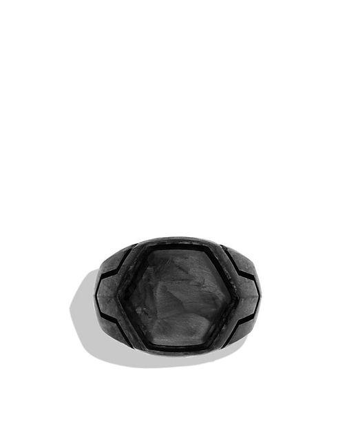 David Yurman | Black Forged Carbon Signet Ring for Men | Lyst