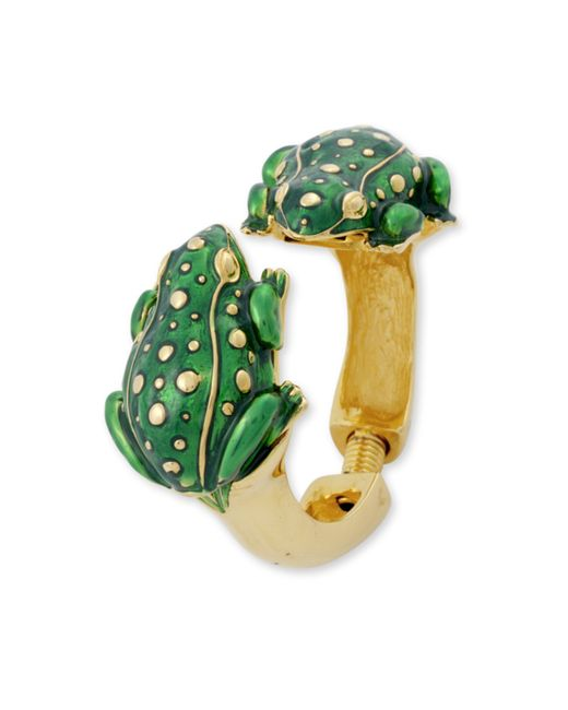 Kenneth Jay Lane | Green Frog Bracelet | Lyst