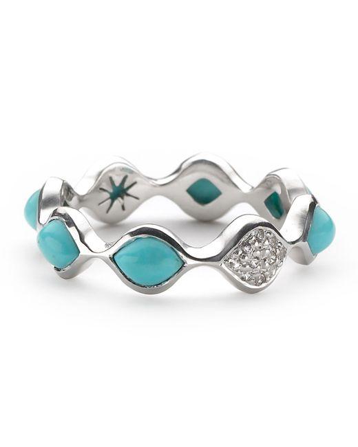 Elizabeth Showers   Blue Simone Turquoise/sapphire Eternity Stack Ring   Lyst