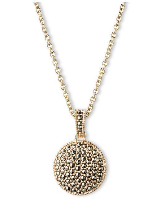 Judith Jack | Metallic Double Sided Marcasite Pendant Necklace | Lyst